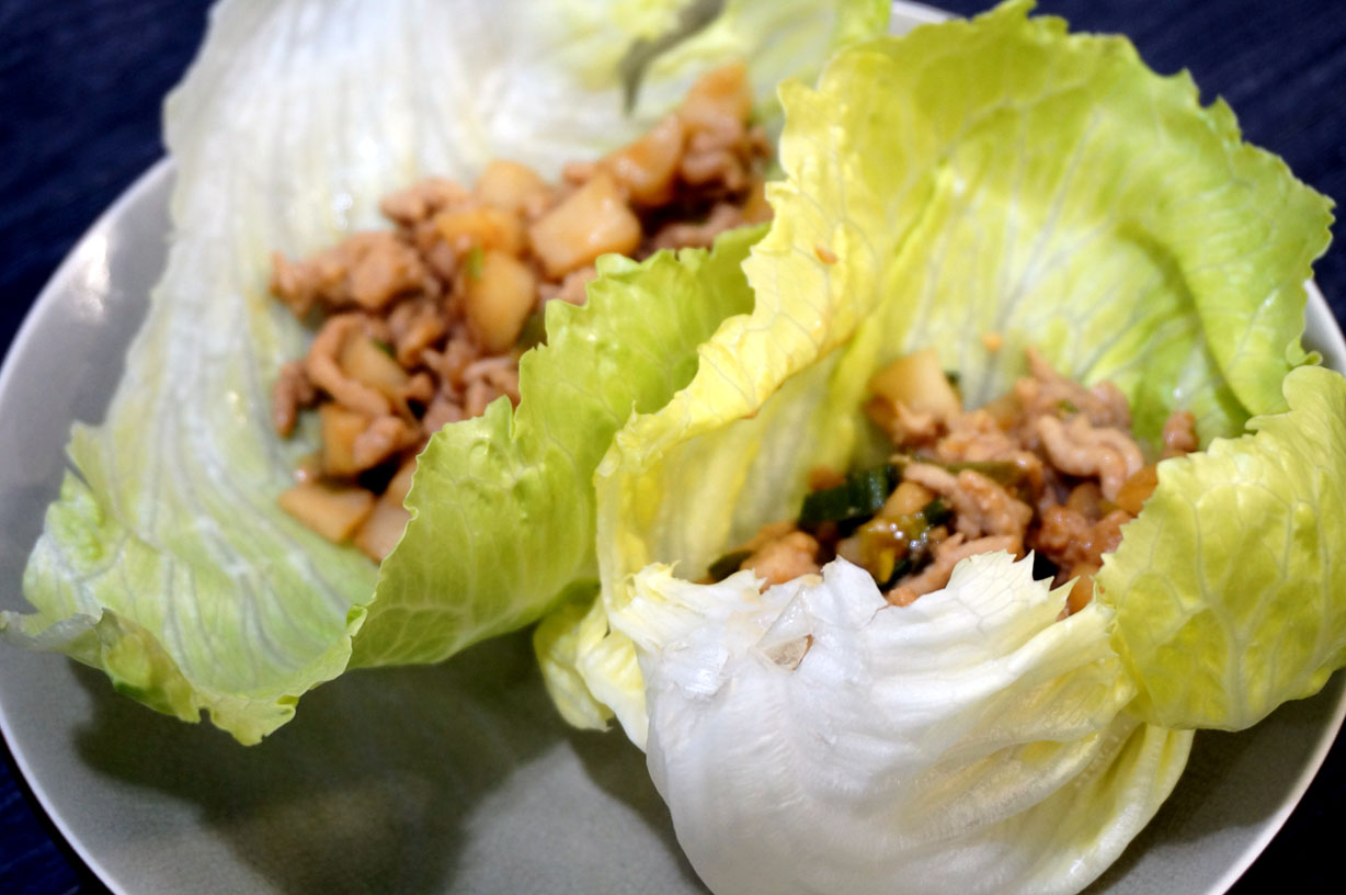 Teriyaki Lettuce Wraps Japanese Cooking Recipes Ingredients Cookware