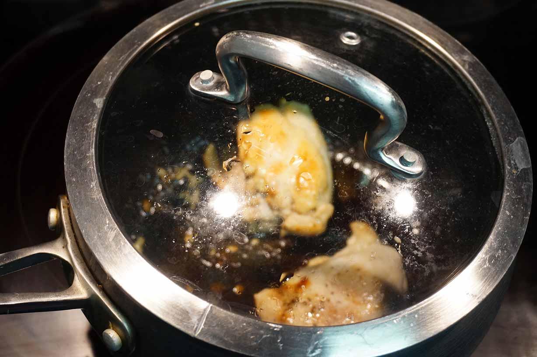Sake Steamed Chicken