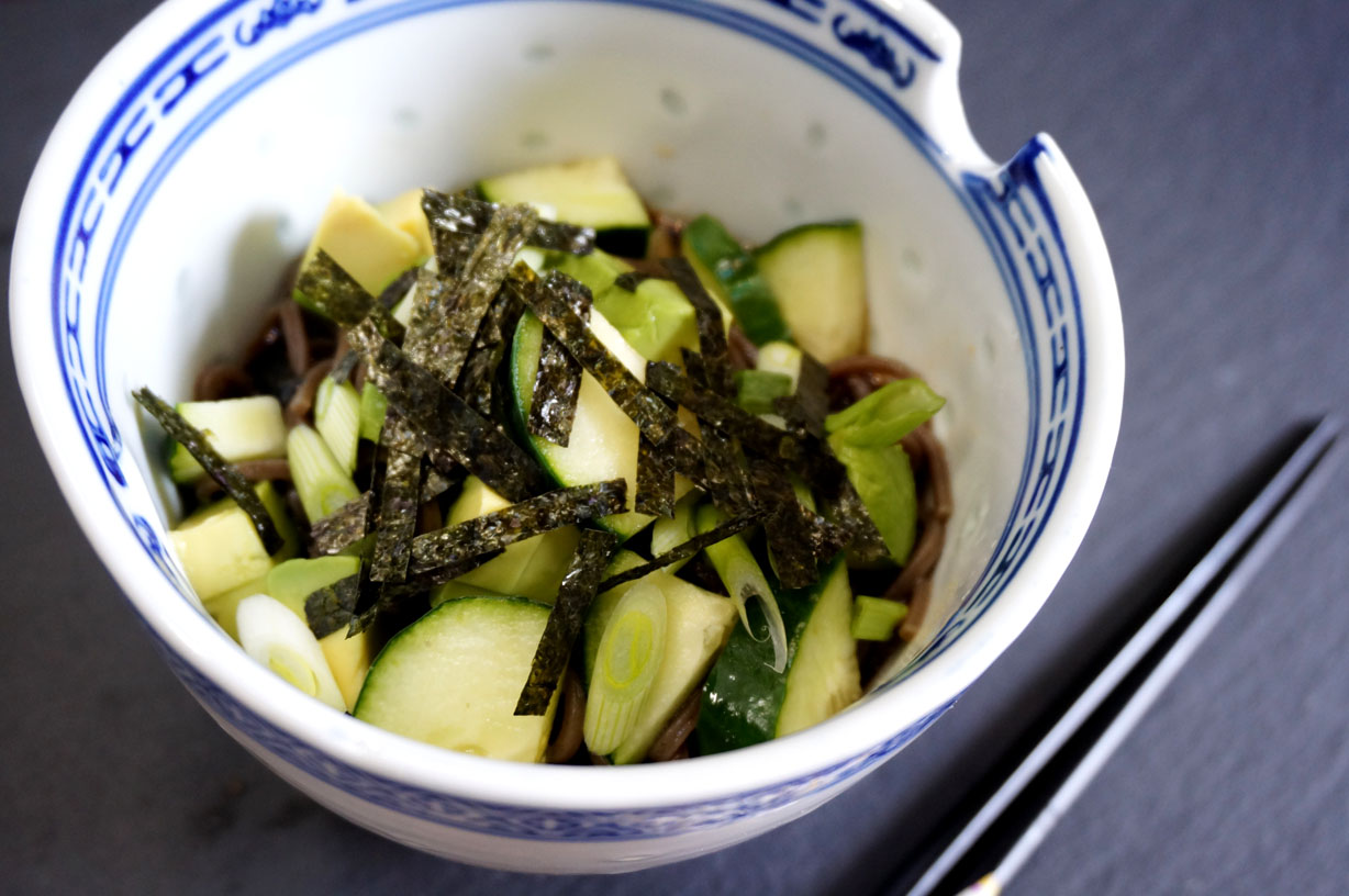 Chilled Soba with Avocado