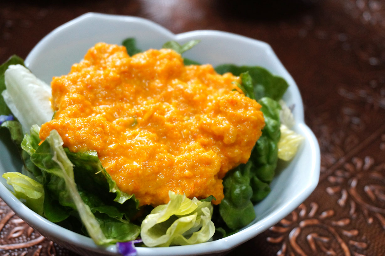 Restaurant Style Carrot Ginger Dressing Japanese Cooking Recipes Ingredients Cookware