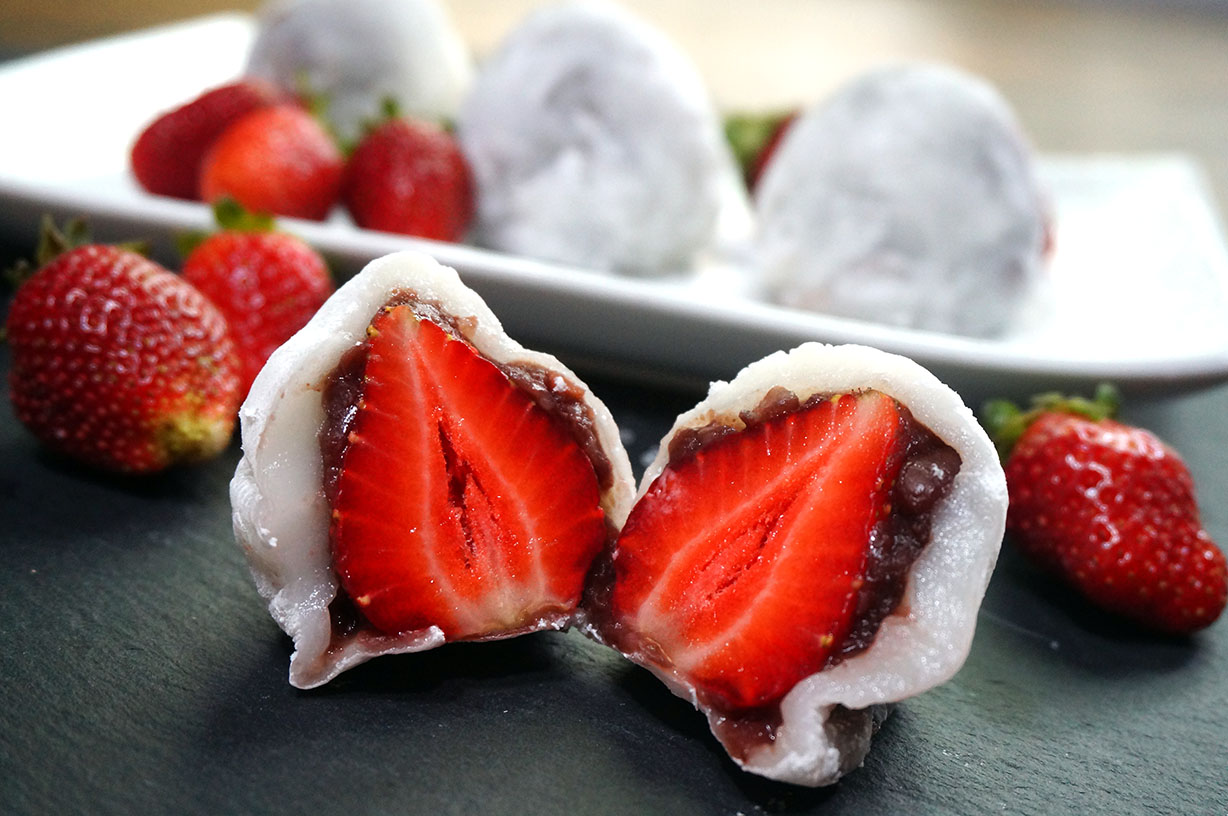 Strawberry Mochi Ichigo Daifuku Japanese Cooking