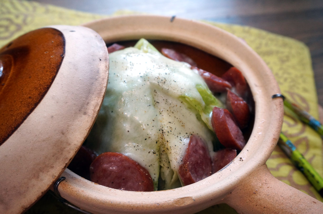 Cabbage and Sausage Hot Pot