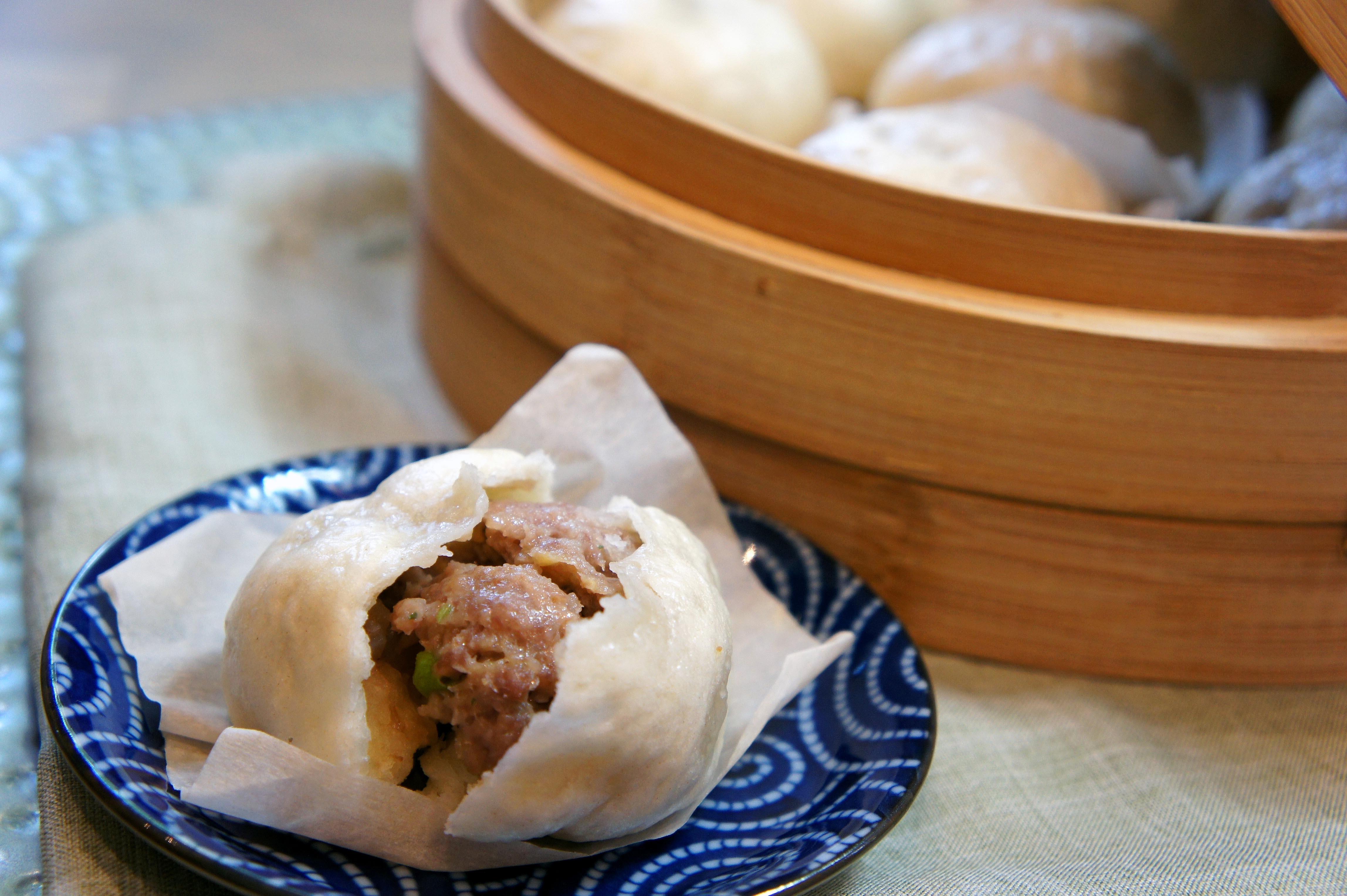 Nikuman steamed buns.